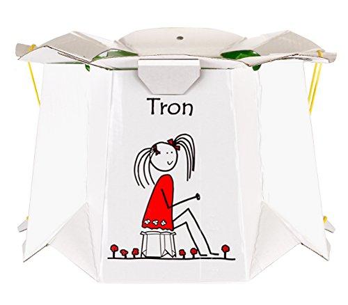 Zapa Tron ZAX6S - Vasino pieghevole singolo per bambini, colore: Bianco