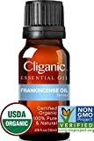 Cliganic USDA Organic Frankincense Essential Oil - Boswellia Serrata, 100% Pure Natural Undiluted,...