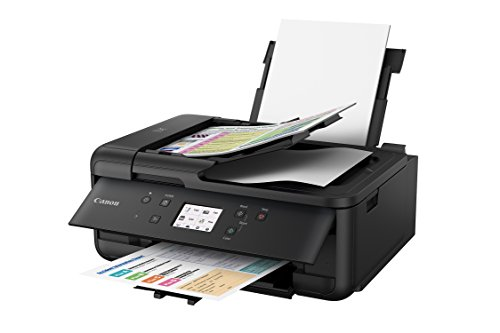 Canon PIXMA TR7520 Wireless Home Photo Office All-in-One Printer with Scanner, Copier and Fax: Airprint and Google Cloud Compatible, Black