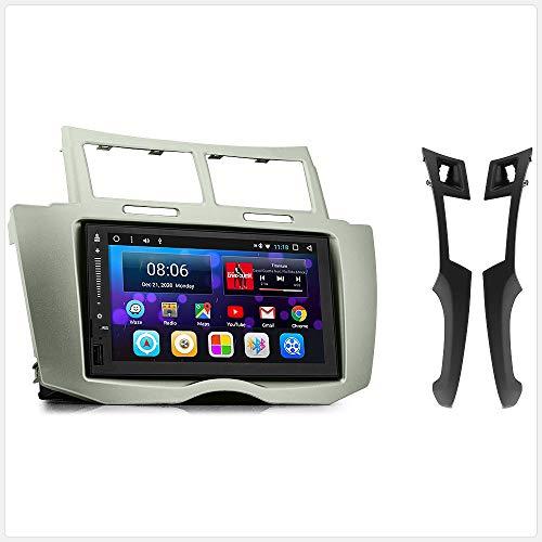 TUNEZ® Kit de façade d'autoradio stéréo double DIN Android GPS USB MP4 MP3 compatible avec Yaris XP90 2006 2007 2008 2009 2010