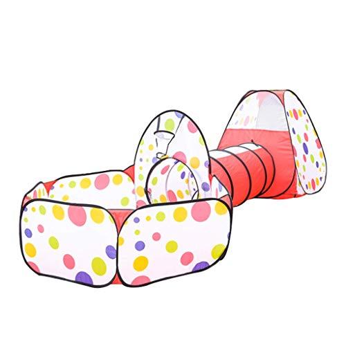 SHWYSHOP Tienda de Juegos de Princesa de Castillo de Cuento de Hadas de niña túnel para niños, Juguetes para Gatear para Tiendas de campaña de Interior y Exterior