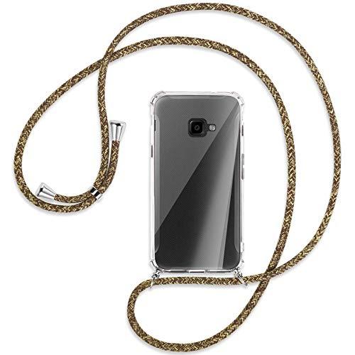 mtb more energy® Handykette kompatibel mit Samsung Galaxy Xcover 4, 4S (SM-G390, G398 / 5.0'') - Natural - Smartphone Hülle zum Umhängen - Anti Shock Full TPU Hülle