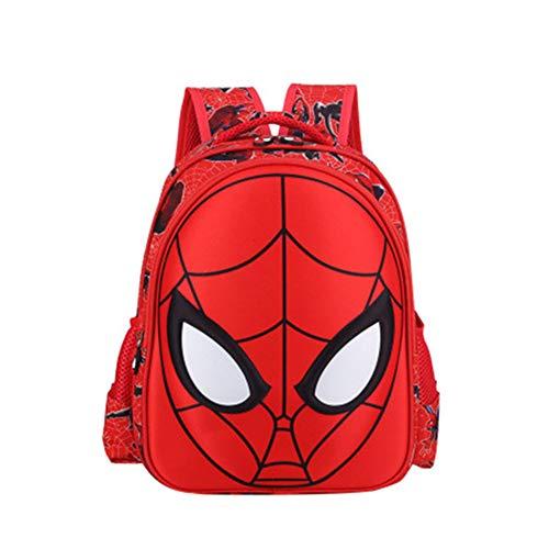 Rafaelle Toddler School Backpack 3D Comic Superhero Elementary Student Schoolbag Waterproof Lightweight Kids Bookbags for Boys Girls, Red, 28cm35cm12cm