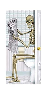 Beistle Skeleton Restroom Door Cover Party Accessory