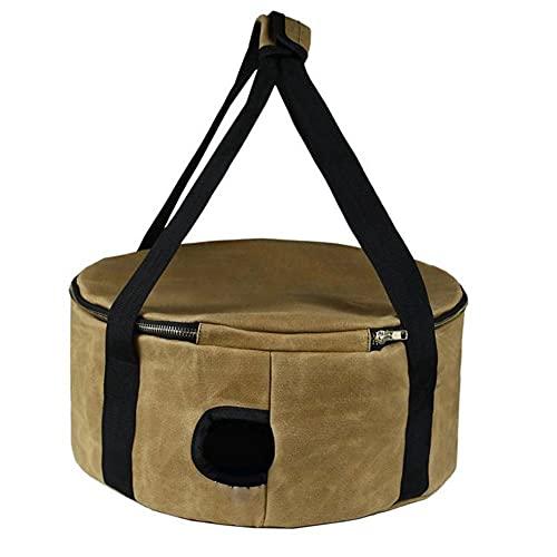 Outdoor Camping Bowl Pan Set Package Picnic Barbecue Carrying Case Kitchen Utensils Storage Bag Dutch Pot Bag Holder Khaki