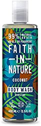 Faith In Nature Natural Coconut Body Wash, Hydrating, Vegan and Cruelty Free, No SLS or Parabens, 40