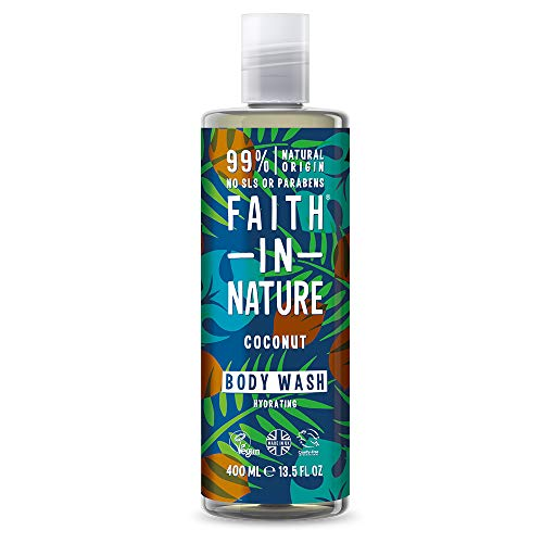 Faith in Nature Natural Coconut Body Wash, Hydrating, Vegan & Cruelty Free, Paraben and SLS Free, For Normal to Dry Hair, 400ml