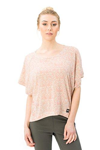 super.natural W Motion Peyto Printed T-Shirt en Laine mérinos. Femme, Sable Clair/Arabesque Print Var7, XS