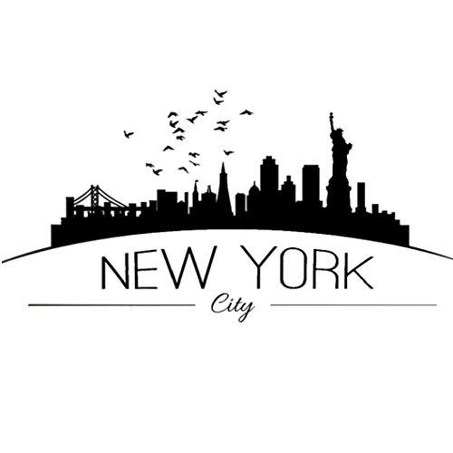 OMMO LEBEINDR Hintergrund-Aufkleber mit der New Yorker Brief Creative City Aufkleber entfernbarer Wand-Aufkleber-Kunst-Abziehbilder Wand Decorationfor Convenience