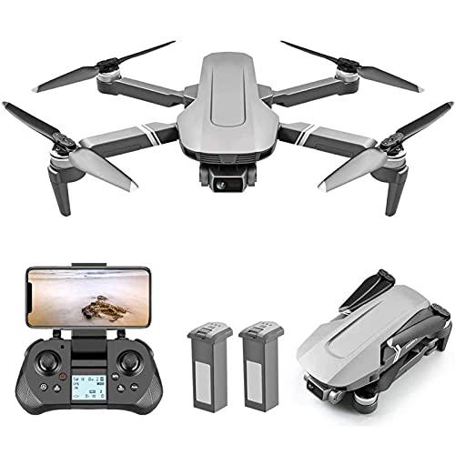 DCLINA Drone GPS GimbalQuadcopter a 2 Assi con Fotocamera 4K HD Motore brushless 2000M Distanza Controllo remoto Trasmissione WiFi 5G con luci a LED Colorate