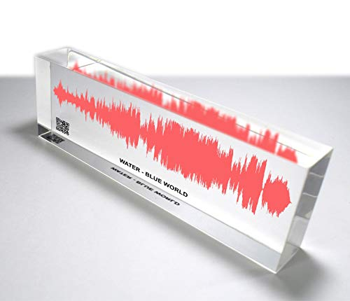 OOCLAS Personalized Soundwave Art, Custom Sound Wave Print, Colorful 3D Look Soundwave Gift, Gift for Him & Her, Acrylic Song Sound Wave Block Size (12 X 3 X 1.25 Inches)