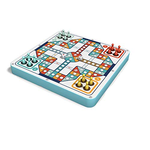 longsing Checkers Flying Chess Game Othello Snake Chess Chinese Chess Confluence Game Single Noble Game de Madera Juegos de Madera para niños 7In1 Juego de ajedrez Volador Juego