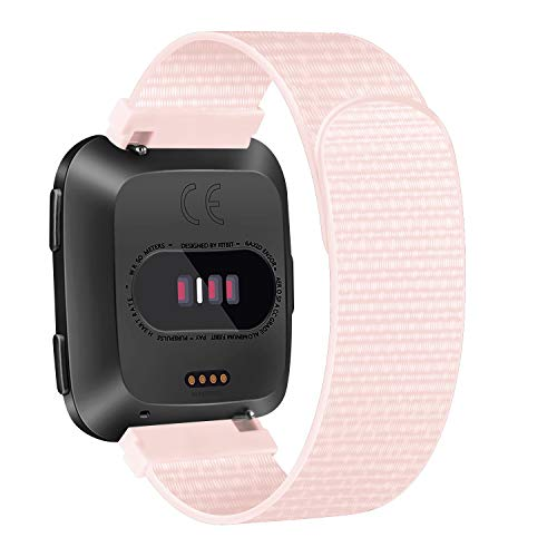AK Nylon Bands Compatible with Fitbit Versa 2/ Versa Lite/Versa SE, Soft Replacement Wristband with Fastener Adjustable Closure for Women Men