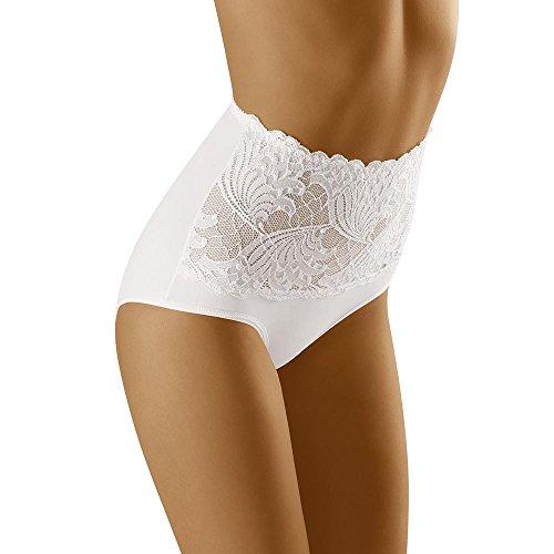 Wolbar Damen Slip Unterhose WB207, weiß,Medium