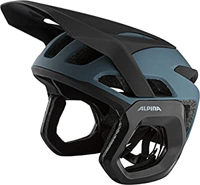 ALPINA ROOTAGE EVO Casco, Unisex-Adult, Dirt-Blue Matt, 57-61 cm
