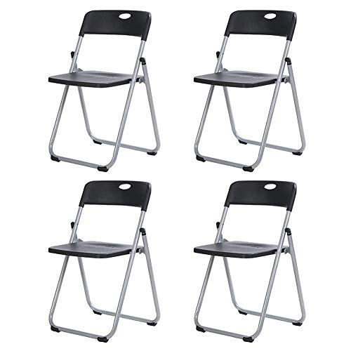 KaiKai Stuhl 4 Klappstuhl Plastiksitz Bürostuhl Siamese Stuhl Bürokonferenzstuhl Ausbildung Chair 78X45.5X40cm Klappstuhl (Farbe: 4) (Color : 5)