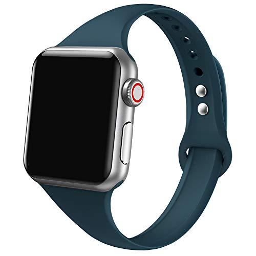 CInturIno Sportivo In Silicone Compatibile Con Watch 38 mm 40 mm,In Morbido Silicone,Sottile,Piccolo CInturIno di Ricambio per Serie 4,Serie 3,Serie 2,Serie 1 Nike+,Sport,Unisex