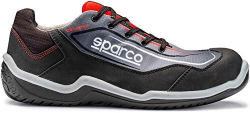 Sparco - Zapatillas Dragster Talla 45 Blk/Rojo