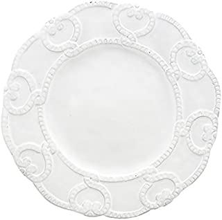Arte Italica Bella Bianca Antique Lace Salad Plate, White