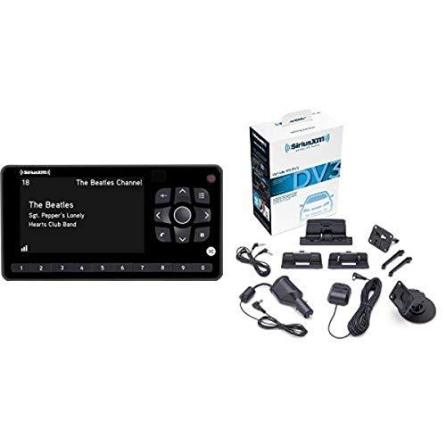SiriusXM SXEZR1V1 XM Onyx EZR Satellite Radio Receiver with Vehicle Kit + SXDV3 Satellite Radio Vehicle Mounting Kit with Dock and Charging Cable