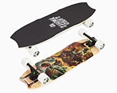 "Landyachtz Wolf Shark Mini 2016 Hollowtech Longboard Deck Measures 9.5"" X 32.5"" Comes Gripped With Landyachtz Grip Tape"
