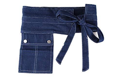 WEIYYY Denim Wide Corset Jeans Cinturones de Mujer con Bolsillo Ocio Fajín para Vestidos de Fiesta Cinturones Femeninos Accesorios de Vestir, Azul Profundo, Talla única
