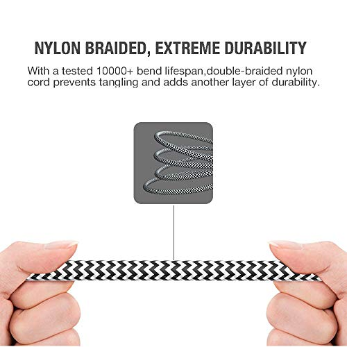 3.5mm Stereo Audio Cable Extension Male to Male Nylon Braided 4ft/1.2m Zerist Jack Cable Tangle-Free AUX Cable for Headphones, iPods, iPhones, iPads, Home/Car Stereos and More (Black)