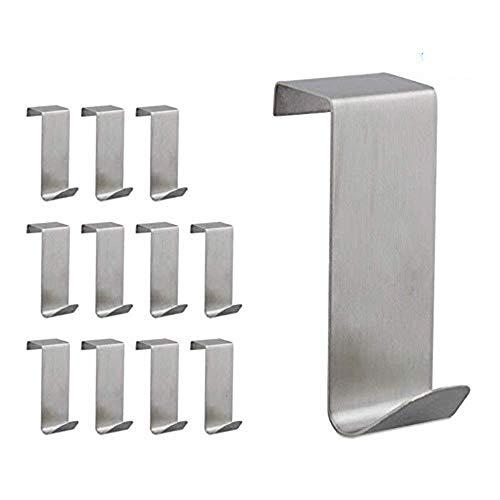JUNSHUO 12 Piezas Engrosamiento, 3 tamaños,Colgador/Perchas y Ganchos de Las Puertas/Ganchos Reversibles...
