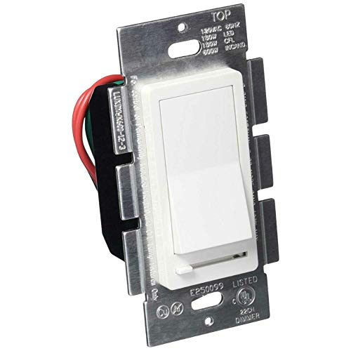 LED Wall Dimmer Switch for LED Lights,Three Way & Single Pole,150W LED and CFL Compatible, 600W Incandescent, Rocker Switch & Slide Dimmer, No Neutral Wire Required, 120V