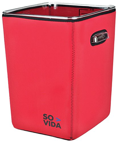 SO-VIDA Sous Vide Container Sleeve For The Rubbermaid 22 Quart (Red Version) - Protects Your Work Surfaces and Saves You Electricity From Increased Insulation