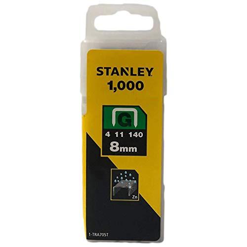 Stanley Grapa Tipo G (4 11 140) 8mm-1000 u. 1-TRA705T, Amarillo Negro, 8mm, Set de 1000 Piezas