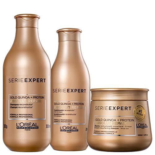 Kit L'Oréal Professionnel Absolut Repair Gold Quinoa + Protein 3 Produtos