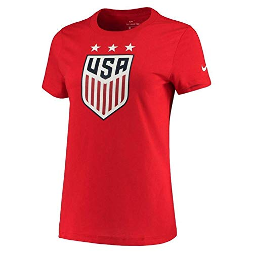 Nike Womens USA Soccer Crest Tee (Large, Red)