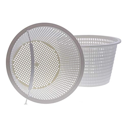 "U.S. Pool Supply Swimming Pool Plastic Skimmer Replacement Basket (Set of 2) - Skim Remove Leaves, Bugs and Debris - 8"" Top, 5.5"" Bottom, 5"" Deep - Not Weighted"