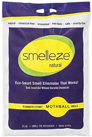 SMELLEZE Natural Mothball Odor Limited time trial price Remover: Long La Ranking TOP8 25 lb. Granules.