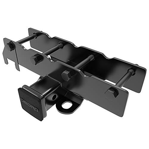 "oEdRo 2"" Rear Towing Trailer Hitch Receiver Compatible with 2018-2019 Jeep Wrangler JL JLU 2 Door & 4 Door (Not fit for 2018 JK Models), Tow Combo (Hitch Cover Included)"