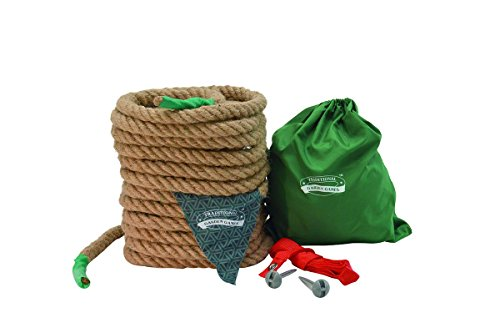 Traditional Garden Games TGG125 Tug of War, Corda Naturale, 10 m