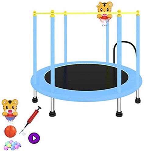 LBBGM Garden safety net trampoline trampoline for bed jumping and jumping with internal padding and mini trampolines for children