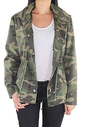 Sotala Damen Parka Jacke Camouflage Mantel Kapuze abnehmbar