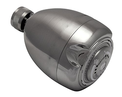 Niagara Conservation High Efficiency 1.5 GPM Earth Spa 3-Spray Showerhead in Brushed Nickel, N2915BN...