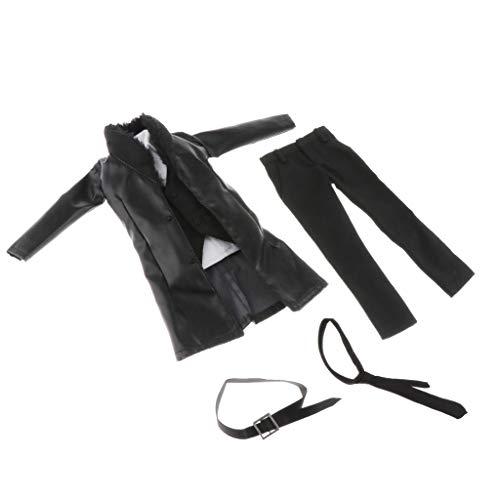 Sharplace 1/6 Traje de Cazadora de Cuero para Hombre Cuerpo Masculino Figrue 12 ' Muñeca