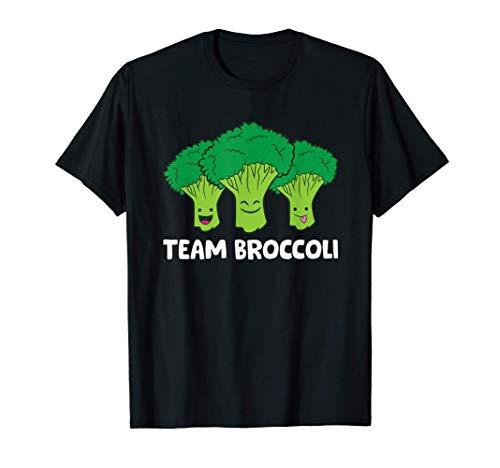 Equipo de amantes del brócoli Vegano Vegetariano Brócoli Camiseta
