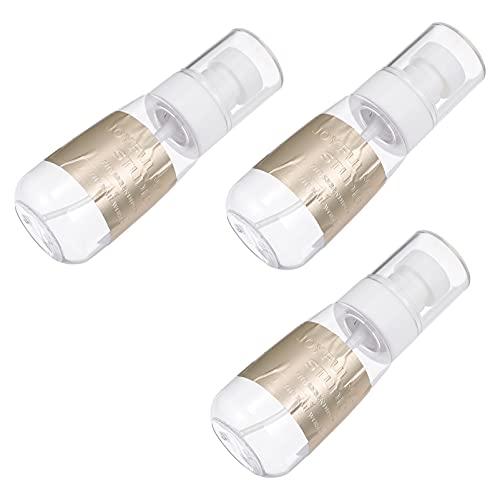 Minkissy 3 Unidades de Botellas de Agua Dispensadoras de Bomba Vacías Botella Removedor de Esmalte de Uñas Botella de Empuje Hacia Abajo Botella Removedor de Maquillaje Botella 60Ml