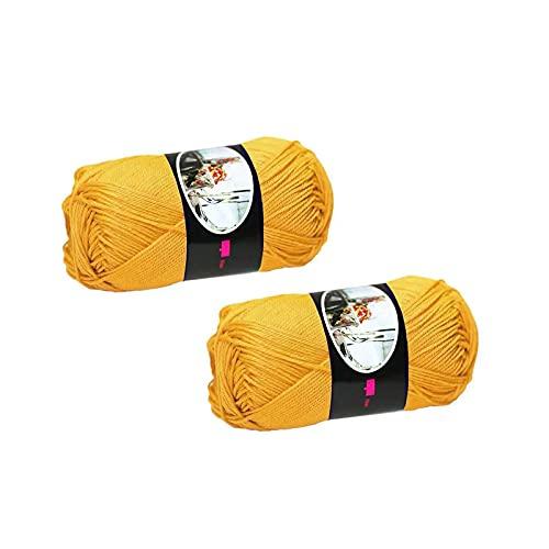 Número 2 ovillos Luxor, 100% puro algodón mercerizado – 50 g = 125 m cada uno.