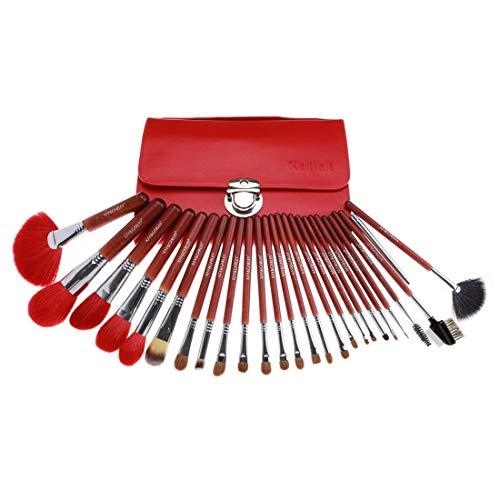 BXGZXYQ Maquillage Pinceaux 26 Pcs Premium Synthétique Fondation Kabuki Mélange Fard À Paupières Visage Brosse Set Nylon Brosse Cosmétique (Couleur : A1)