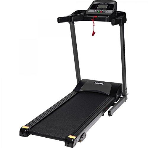 GORILLA SPORTS® Laufband Treatmill mit LCD-Monitor - bis 12 km/h und Steigung - elektrisch und klappbar