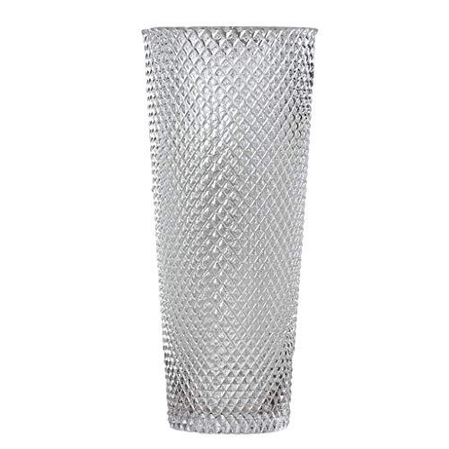ZXL creatieve handgemaakte transparante kleine glazen vaas eenvoudige moderne polka dot roombus hydroponic groene glazen vaas (grootte: D)