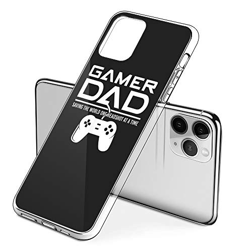Protective Phone Cases iPhone 11 with Gamer Dad Fathers Day Retro Video Game Gaming Design on Premium PC Hard Back - Best Essential Accessories