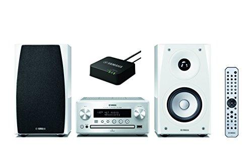 Yamaha MCR-N560WA Kompaktanlage (CD-R/RW/DA, USB, AirPlay) silber/piano weiß