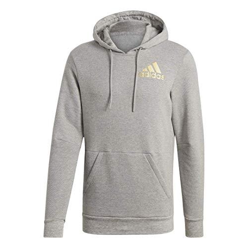 adidas Men's Sport ID Hoodie, Medium Grey Heather, X-Large